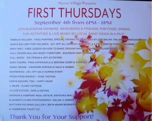 1st Thursdays Poster- Sept