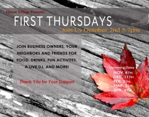 FIRST THURSDAYS OCT 9 29 14
