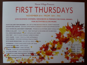1st Thursday Poster- Nov